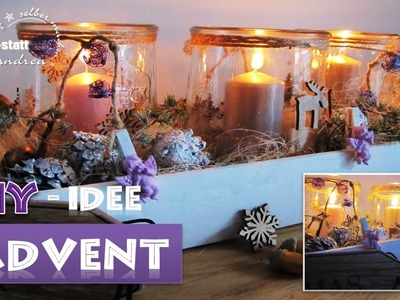 DIY - Deko Idee Advent Kranz