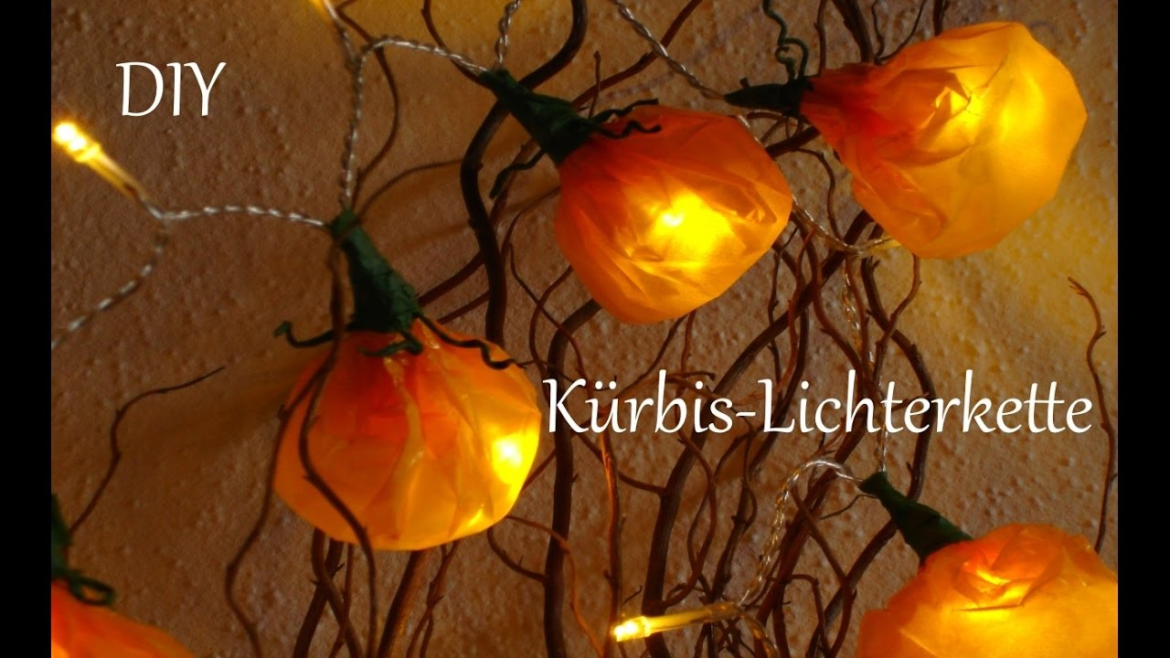 DIY | Kürbis-Lichterkette | Herbstdeko | Halloween | Just Deko