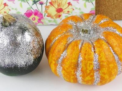 Glitzer Kürbis | Herbst Deko Idee | Halloween Party Deko selber machen