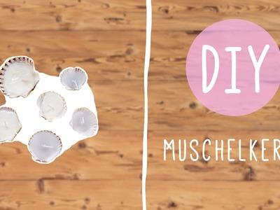 Kerzen selber machen – Muschelkerzen DIY