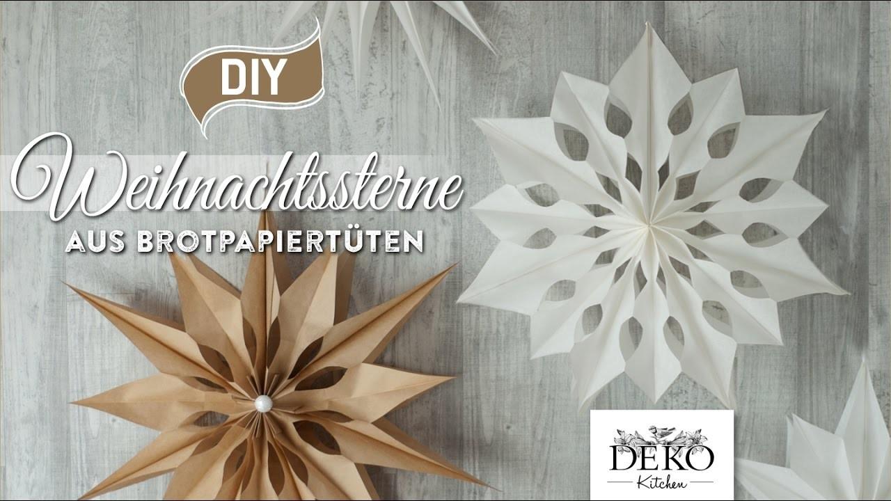 diy gro e weihnachtssterne aus brotpapiert ten basteln how to deko kitchen. Black Bedroom Furniture Sets. Home Design Ideas