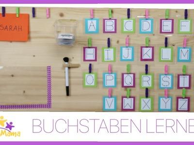 DIY LERNBOARD (1) - erste BUCHSTABEN lernen für Vorschulkinder & Grundschüler. Täglich Mama
