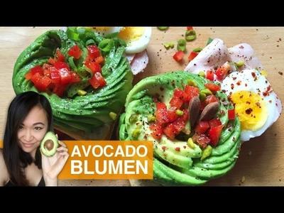 FOOD ART: Avocado Blumen | How To Make An Avocado Rose.Flower
