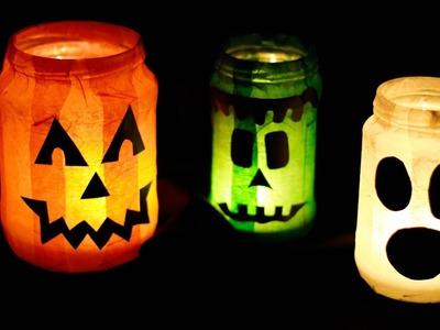 Gruselige Halloween Kerzengläser - Kerzen Lichter. Halloween DIY Tutorial