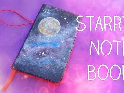 Sternenhimmel malen | Notizbuch Einband gestalten