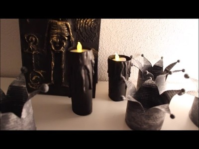 DIY Halloween: Tropfende Kerzen basteln - Anleitung