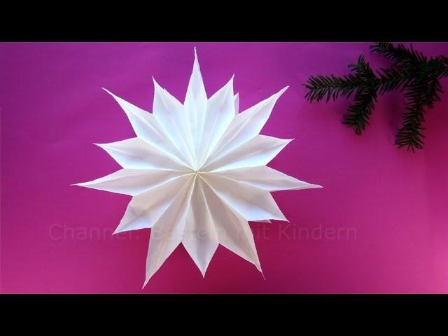 Sterne Basteln Mit Papier Butterbrottuten Weihnachtssterne