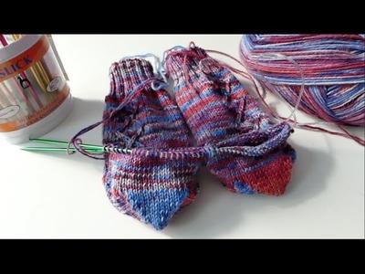 2 Socken gleichzeitig stricken - die CraSy Herzchenferse