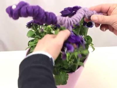 Anleitung: Blumen und Wollkordel - dekorieren wie Floristen