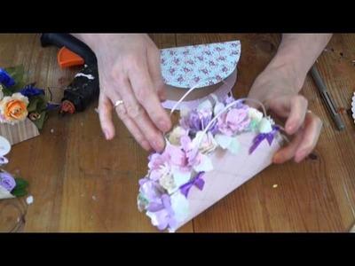 Körbchen aus Papier, Paper-Basket, Canasta de papel´RuthvonG