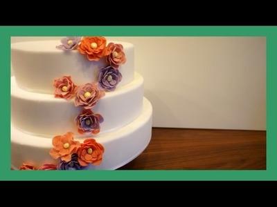 Einfache Fondant Blume - Anfängerfreundlich - Tipps zur Montage an der Torte - von Kuchenfee