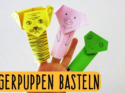 Fingerpuppen aus Papier basteln | falten | Origami | Kindertipp | Easy Kids Crafts