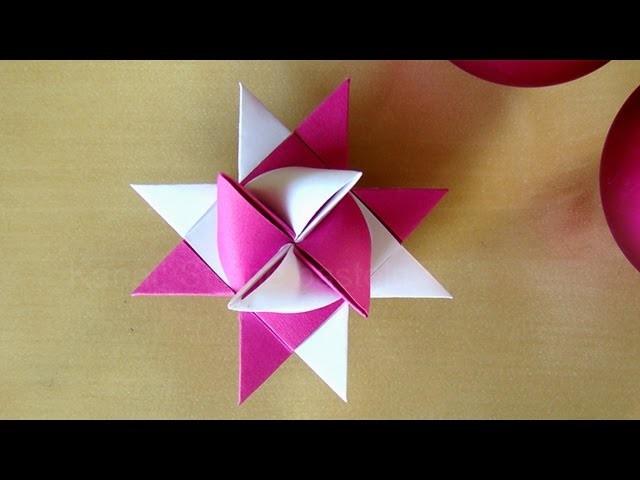fr belsterne anleitung weihnachtssterne basteln mit papier origami stern basteln f r. Black Bedroom Furniture Sets. Home Design Ideas