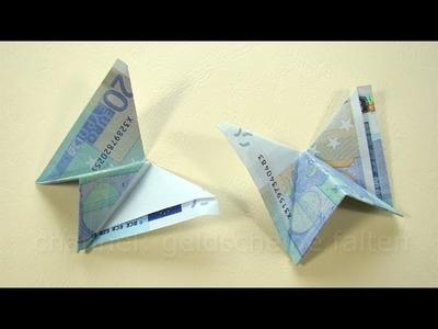 Geld falten: Schmetterling - Einfaches Geldgeschenk