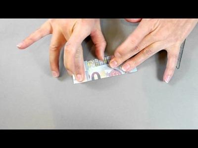 Geldkleid aus einem Geldschein falten