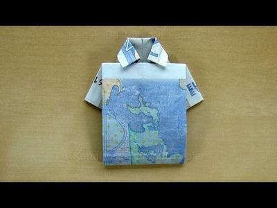 Geldschein falten: Hemd - Geldgeschenke basteln Hochzeit - Geld falten - Kleidung - Trikot