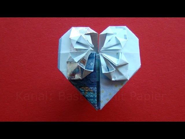 geldschein falten herz geldgeschenke basteln hochzeit geld falten origami. Black Bedroom Furniture Sets. Home Design Ideas