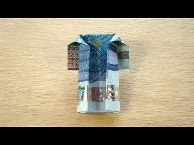 Geldschein Falten: Mantel zum Geldgeschenke basteln