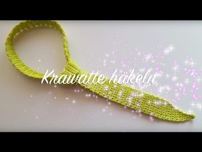 Krawatte häkeln - Häkelkrawatte selber machen - Häkelmädel