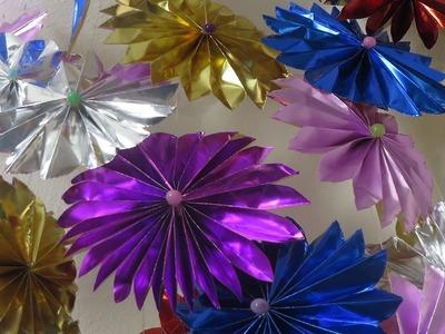 DIY : Große Blumen aus Bastelfolie, super Party Deko ❁ Deko Ideen mit Flora-Shop