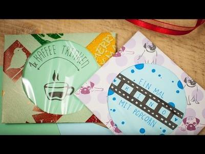 Geschenk-Gutschein selber machen DIY | schön-einpacken