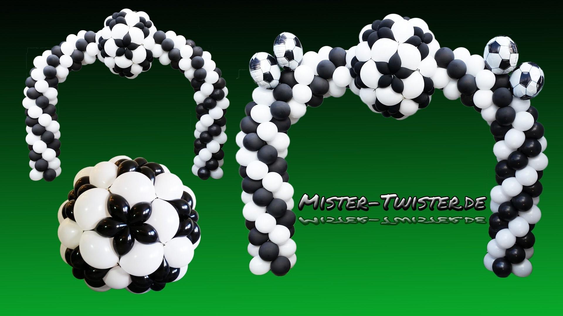 balloon football arch soccer decoration ballon fu ball. Black Bedroom Furniture Sets. Home Design Ideas