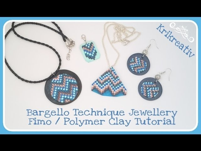 Bargello Technique Jewellery - Fimo. Polymer clay Tutorial