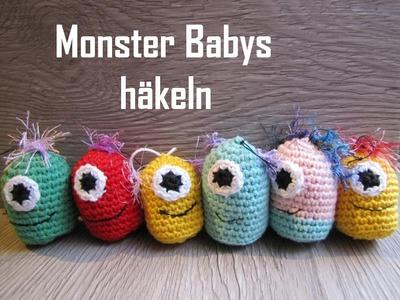 Monster Babys häkeln - Schlüsselanhänger - für Anfänger