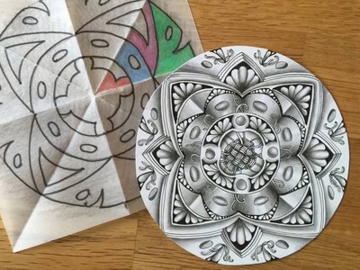 Zentangle® Inspired Art: Namens-Zendala