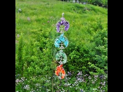 22. DIY  Bastelidee -  Lebensbaum als Ohrringe, Anhänger oder Fensterschmuck selbermachen