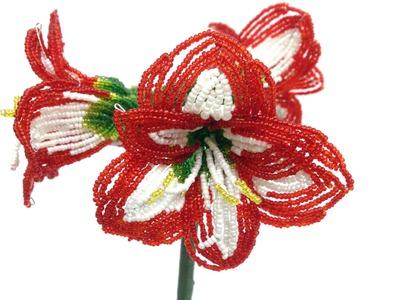 AMARYLLIS aus Perlen. Teil 3.5. Blumen aus Perlen