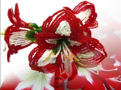 AMARYLLIS aus Perlen. Teil 5.5. Blumen aus Perlen