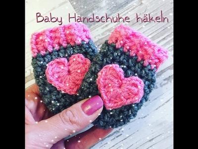 EINFACHE Baby Handschuhe häkeln