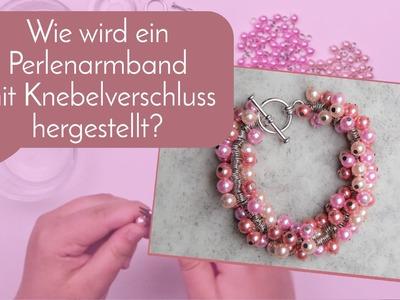 Schmuck machen mit Perlenladen-Online: Perlenarmband mit Knebelverschluss