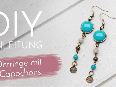 Schmuck machen mit Perlenladen Online - Ohrringe mit Cabochons
