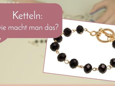 Schmuck machen mit Perlenladen Online - Armband ketteln