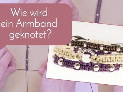 Schmuck machen mit Perlenladen Online - Armband knoten