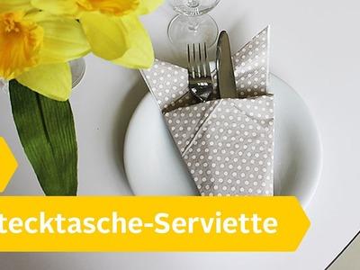 Servietten falten: Die Bestecktasche – DIY Anleitung | Roombeez – powered by OTTO