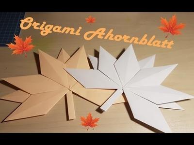 Herbstdeko | DIY | Ahornblatt mit Kindern falten | Bastelwastel