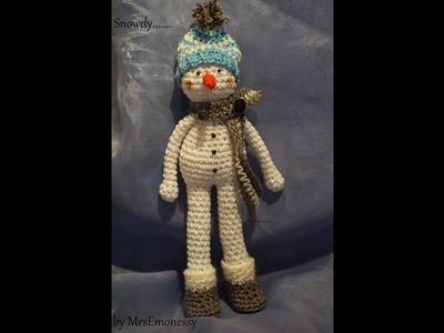 Snowdy der kleine Schneemann Häkeln DIY Amigurumi