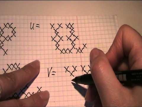 Stickmuster für die Buchstaben Video Teil 3