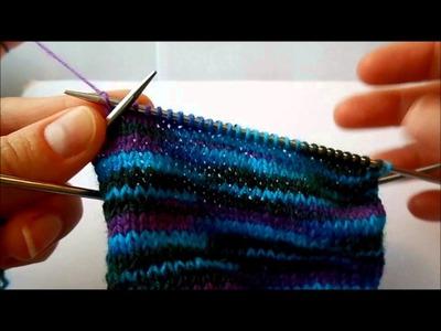 ToeUp Socken Stricken Teil 4 - Bumerangferse ohne Wickelmaschen | ohne linken Maschen