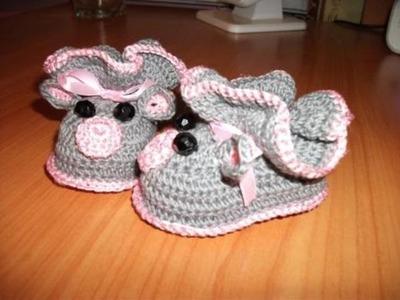 Babyschuhe stricken. Babyschuhe stricken für anfänger. Deutsch.