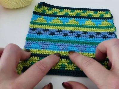 Häkeln Tapestry Häkeln Muster Streifengeometrie Tapestry Häkeln