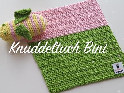 Babydecke häkeln - Kuscheldecke häkeln - Knuddeltuch Bini - Häkelmädel