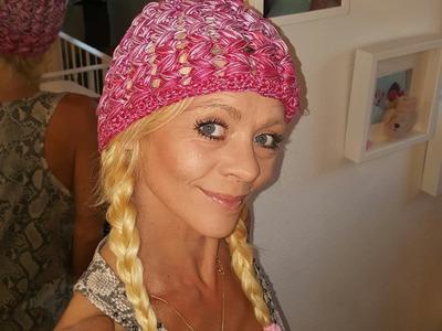 Mütze Melanie  mit Büschelmschen # Häkeln mit Yve
