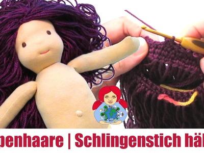 DIY | Puppenhaare im Schlingenstich häkeln | Sami Doll Tutorials