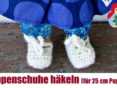 DIY | Puppenschuhe häkeln (für 25 cm große Sami Puppen) | Sami Dolls Anleitungen