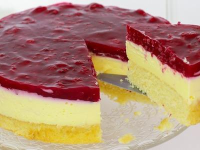 Himbeer Schmand Kuchen - Schmandkuchen mit Himbeeren. Schmand Torte