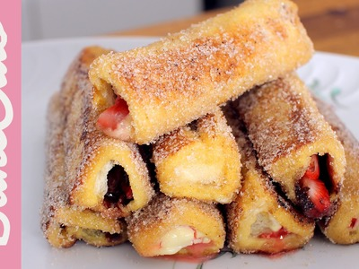 Nutella French Toast Rolls | BakeClub